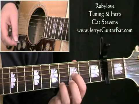 How to Play Cat Stevens Rubylove (intro only)
