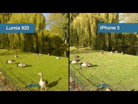 Nokia Lumia 920 vs iPhone 5 Camera Test Comparison