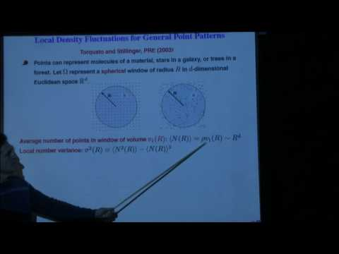 Hyperuniformity in many-particle systems and its generalizations - Salvatore Torquato