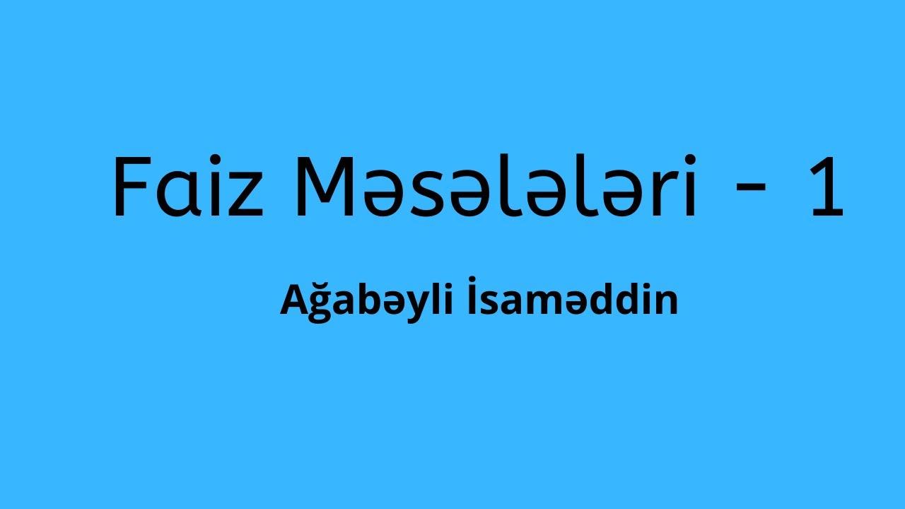 Saat Məsələləri.Ağabəyli İsaməddin.