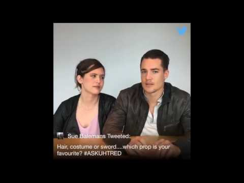 Uhtred & Brida Cute and Funny Q&A  The Last Kingdom Season 1 & 2