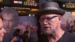 Yondu Talks Time Travel at Marvel's Doctor Strange Red Carpet Premiere