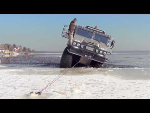 Russia Amphibious All Terrain Vehicle Testing 1080p