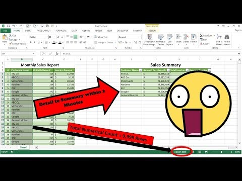 How To Make Summary Report In Excel Within 2 Minutes, How To Summarize Data In Excel