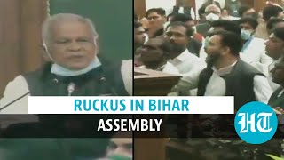 Bihar Speaker's election: RJD MLAs create ruckus over Nitish Kumar's presence