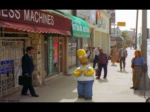 Homer in the Real World - Sad Credits - Gracie Films/20th Century Fox logo - Treehouse of Horror VI