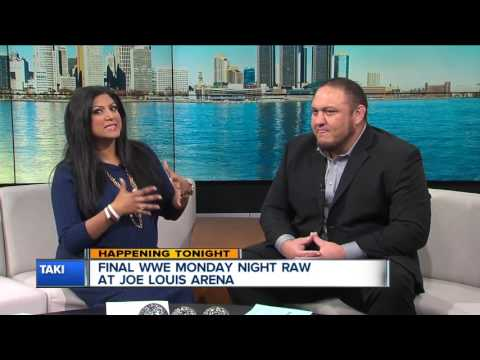 WWE Superstar Samoa Joe previews RAW in Detroit