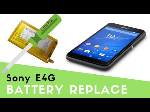 Sony E4G - How to replace battery CrocFIX