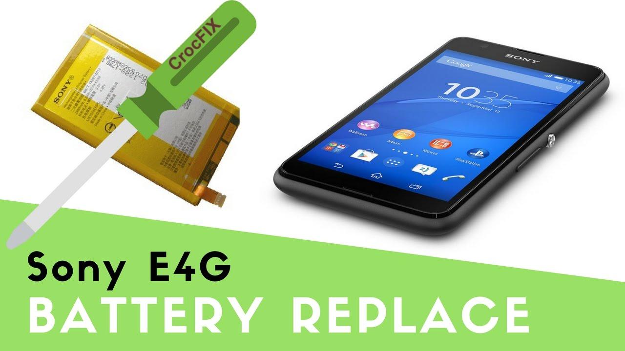 How to change battery on Sony Xperia E4/E4G - YouTube