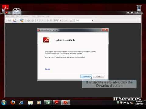 Updating Adobe Reader In Windows 7
