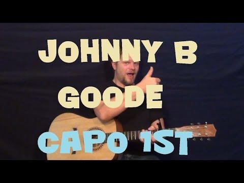 Johnny B Goode (Chuck Berry) Easy Guitar Lesson Strum Chords Licks Tab How to Play Tutorial