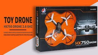 HX750 Drone 2.6 Ghz 6 Channel Remote Control Unboxing and Review)