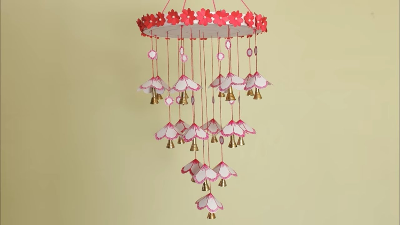 DIY Wind Chime || Wall hanging using Paper || DIY Room decoration ...