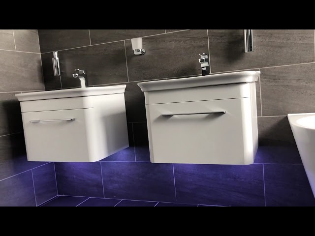 Large bathroom with free standing bath