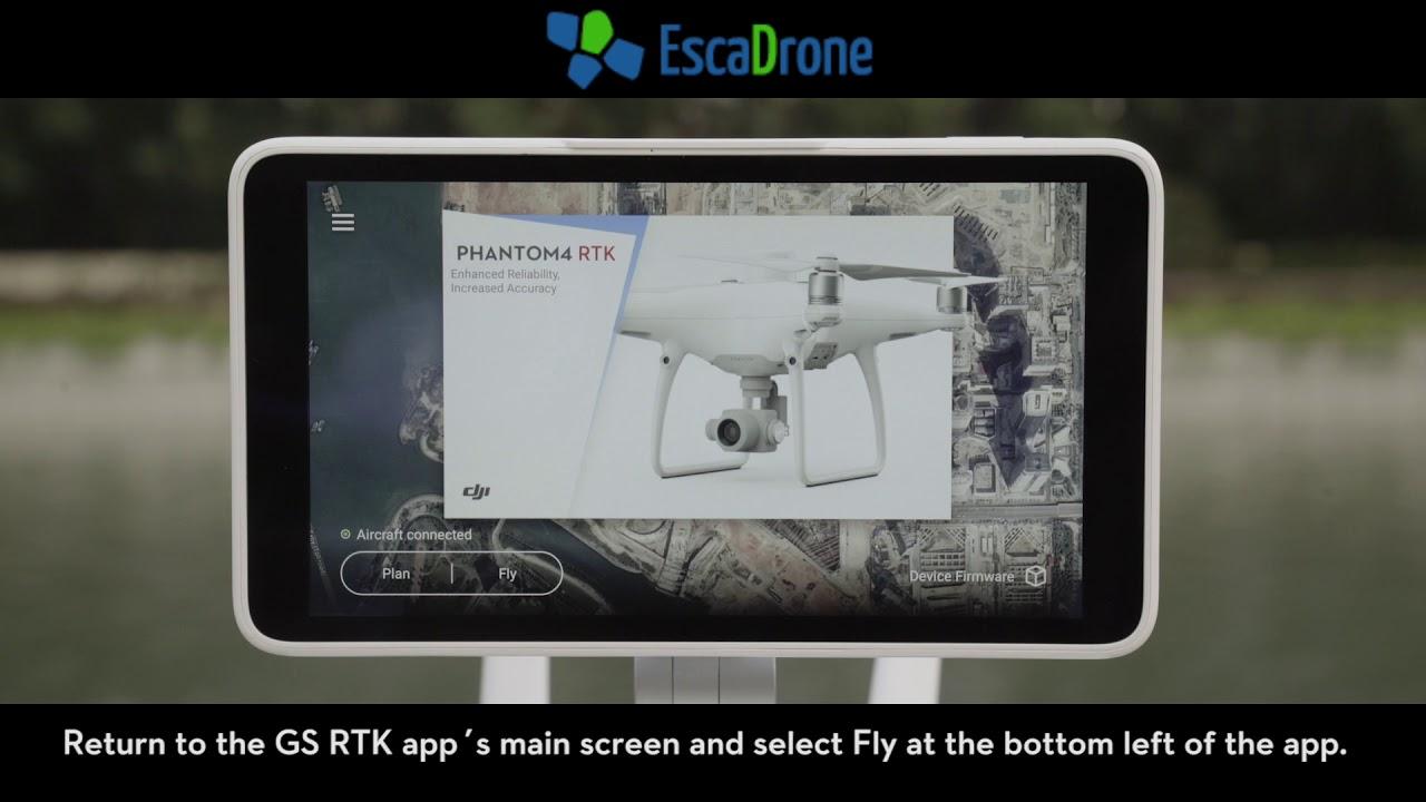 Network RTK sur le Phantom 4 RTK (réseau RTK) par Escadrone en Anglais