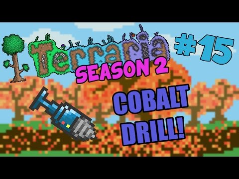 Let's Play Terraria (1.2.4) iOS/Android - Crafting the Cobalt Drill! - 15