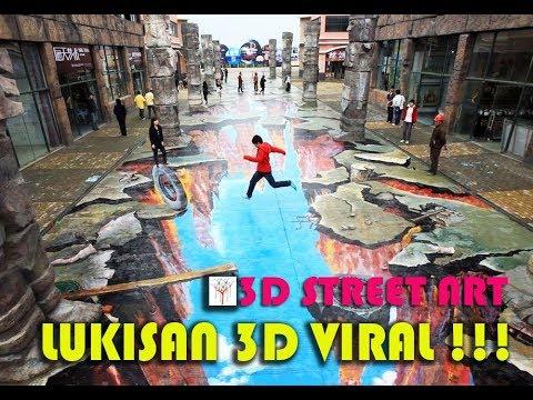 VIRAL !!! LUKISAN 3D (STREET ART PAINTING) SUPER AMAZING !!!