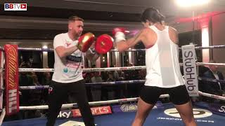 TERRI HARPER PUBLIC WORKOUT AHEAD OF HER WORLD TITLE DEFENCE IN MANCHESTER THIS SATURDAY