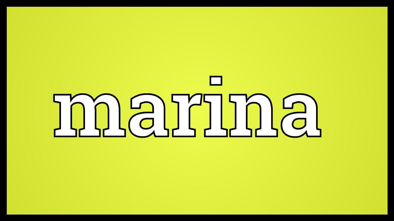Marina Meaning