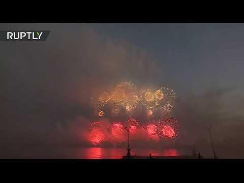 Navy Day fireworks light up St. Petersburg skies