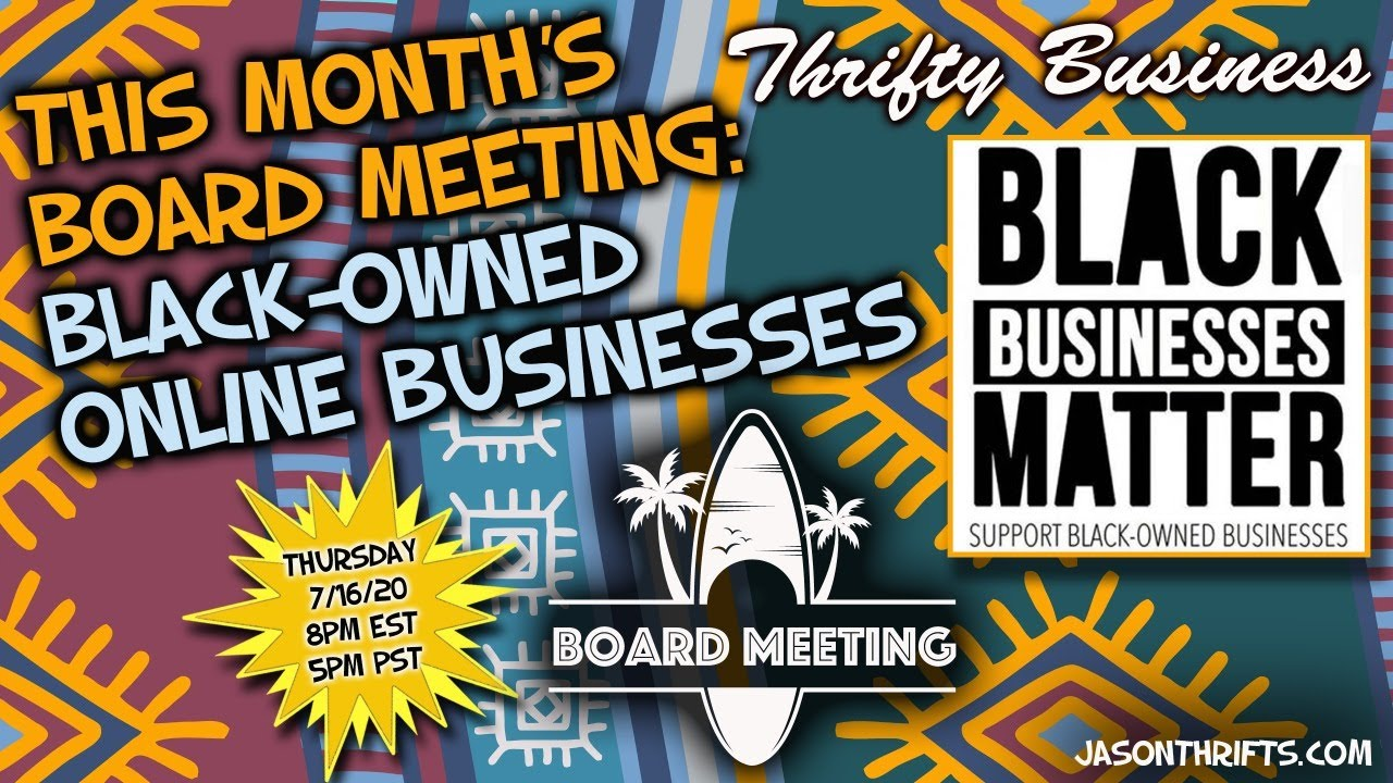 Black Owned Online Ebay Businesses Board Meeting 5 Thrifty Business Youtube