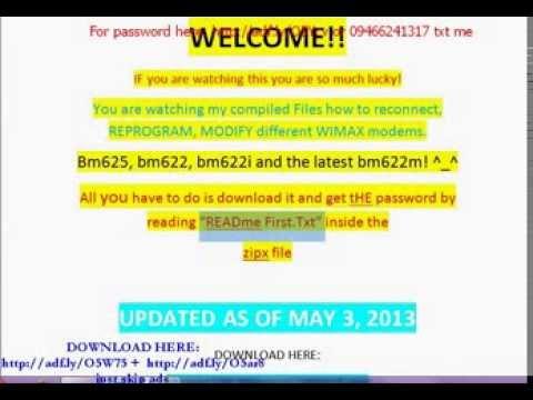 Tutorials how to reconnect wimax bm622 bm625 bm622i bm622m ( wimax).