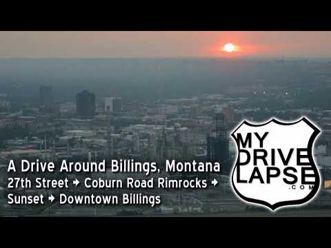 Exploring Billings, To The Rimrocks At Sunset - Dashcam