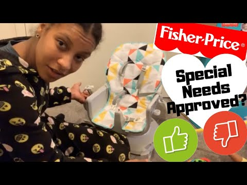 FISHER PRICE SPACE SAVER HIGH CHAIR— SPECIAL NEEDS SAFE? ASSEMBLY & REVIEW