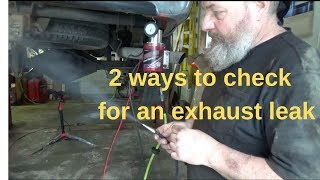 2 ways to check for an exhaust leak