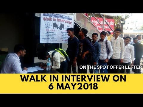 Walk in Interview @ 6th.May.2018 - jobs in Ahmedabad