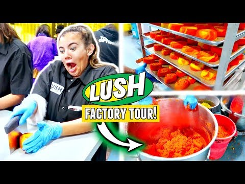 LUSH FACTORY TOUR - Toronto!💦 Making bath bombs, bubble bars, face cleansers and more.