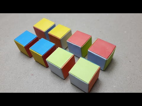 How to make paper cube easy way/Origami Cube/Cube-01