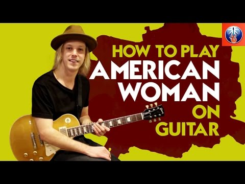 how to play american woman on guitar awesome guess who song lesson youtube. Black Bedroom Furniture Sets. Home Design Ideas