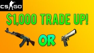 CS GO Skins - $1000 TRADE UP! StatTrak Factory New Fire Serpent Attempt (100k Special)