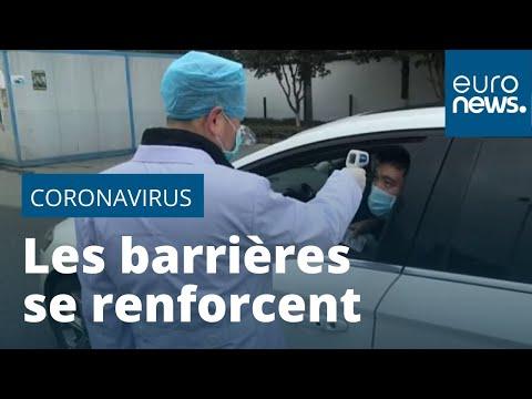 Coronavirus chinois: le bilan s'alourdit, les barrières se renforcent