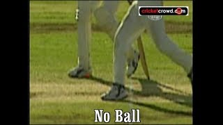 Shane Warne's famous 99 - it was a no ball!!