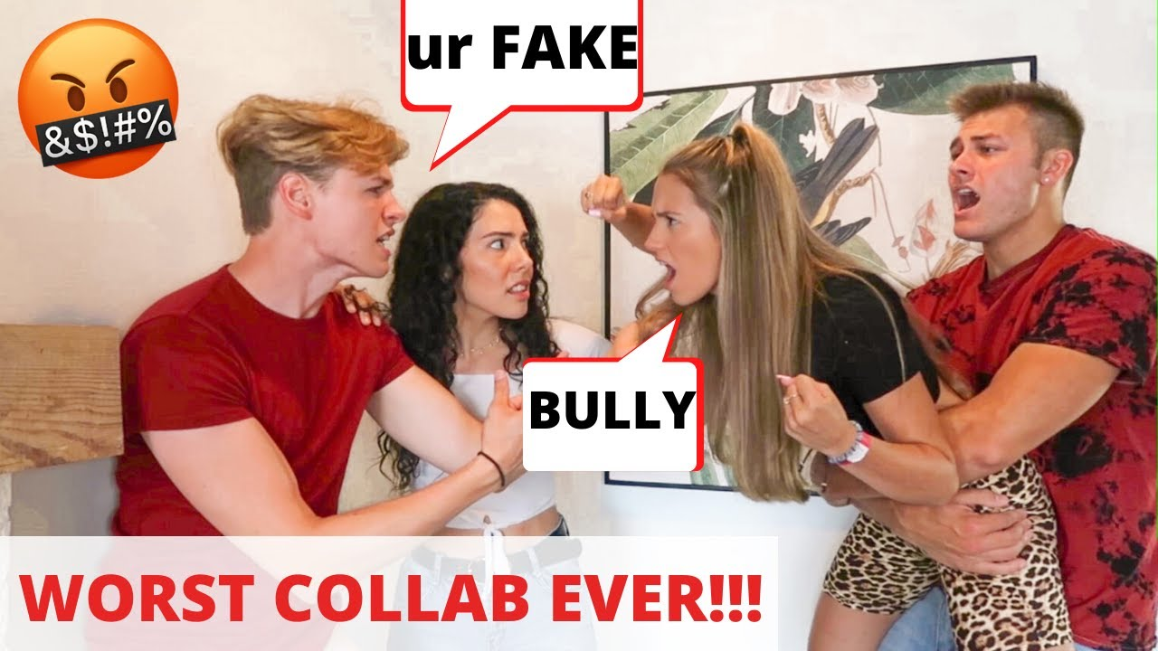 Bullying Other Youtubers To See How My Girlfriend Reacts *EPIC PRANK* | Andrea & Lewis