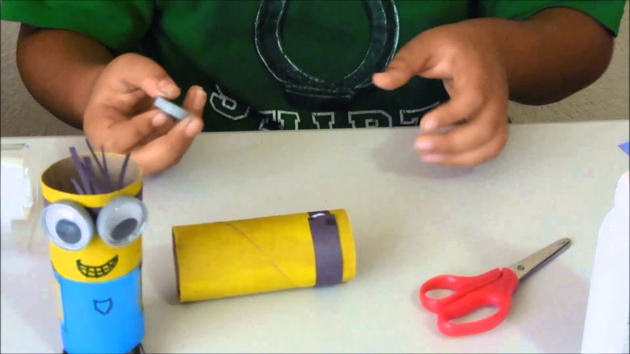 How to make a minion out of a toilet paper tube youtube jeuxipadfo Image collections