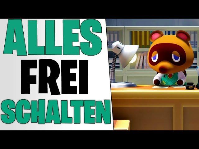 SO SCHALTET IHR ALLES FREI - Leiter, Rathaus & Terraforming | Animal Crossing New Horizons Tipps