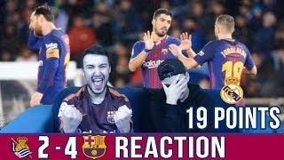 Barca breaks the anoeta curse !!   sociedad 2-4 barca   reaction