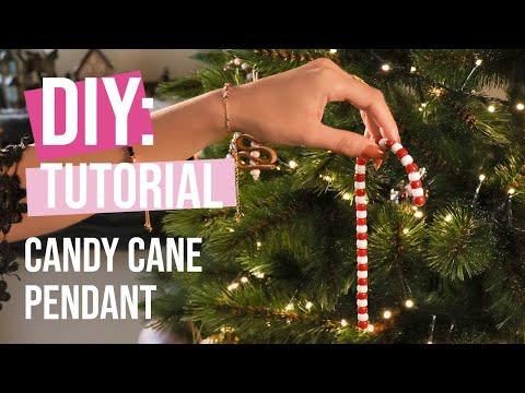 DIY Tutorial: Candy Cane pendant