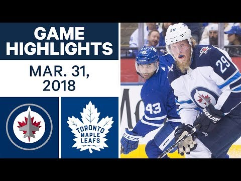 NHL Game Highlights | Jets vs. Maple Leafs - Mar. 31, 2018