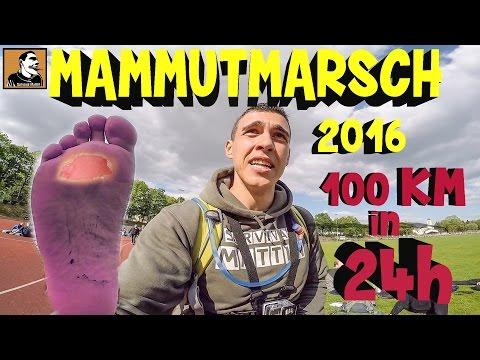 """""""Survival Mattin"""" versucht 100 Kilometer in 24h zu Fuss zugehen MAMMUTMARSCH 2016 u.ü.n.k."""