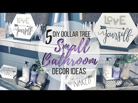 5 DIY DOLLAR TREE SMALL BATHROOM DECOR IDEAS