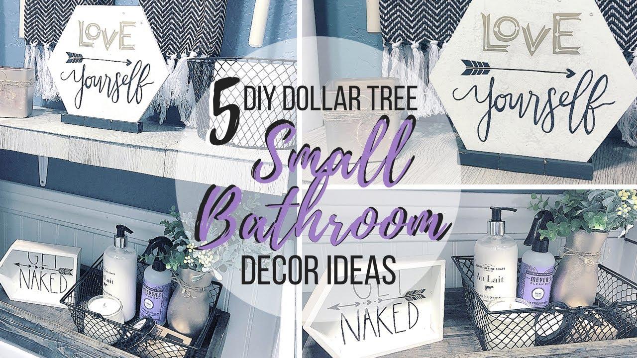 5 DIY DOLLAR TREE SMALL BATHROOM DECOR IDEAS - YouTube