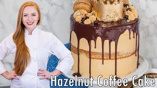 Tatyana's Torte - Hazelnut Coffee Cake with Caramel Buttercream