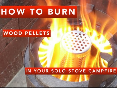 Hack your Solo Stove campfire, easy to burn inexpensive wood pellets
