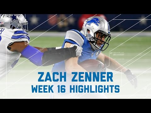 Zach Zenner 92 Total Yards & 2 TDs! | Lions vs. Cowboys | NFL Week 16 Player Highlights