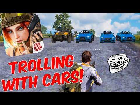 TROLLING People! Rules of Survival Gameplay + Funny Moments! We Hit A Person With A Car! (Fortnite)