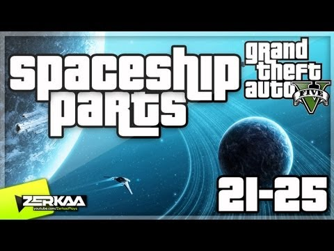 """GTA V Spaceship Parts (21-25) """"From Beyond The Stars"""" Achievement Guide (GTA 5)"""